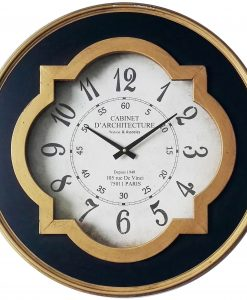 Quatrefoil Large Round Wall Clock kitchen