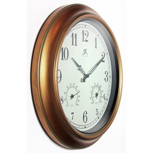 from right side craftsman gold steel wall clock 18 inch