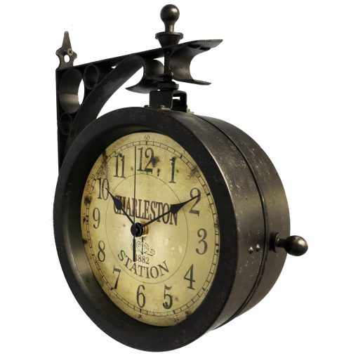 side view charleston wall clock mounting 12 inch