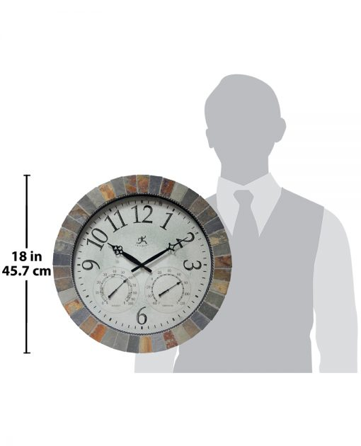 for scale inca brown slate wall clock 18 inch