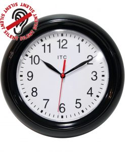8.75 inch Focus Black Resin Wall Clock
