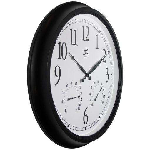 from right side definitive black wall clock 24 inch
