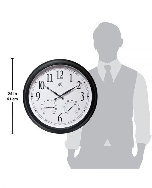 for scale definitive black wall clock 24 inch