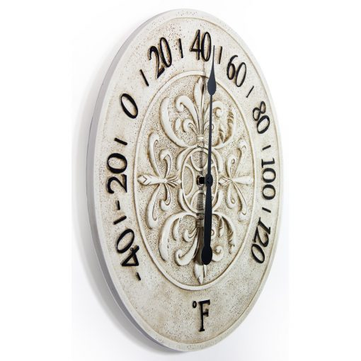 from right side blanc fleur white wall clock 15 inch