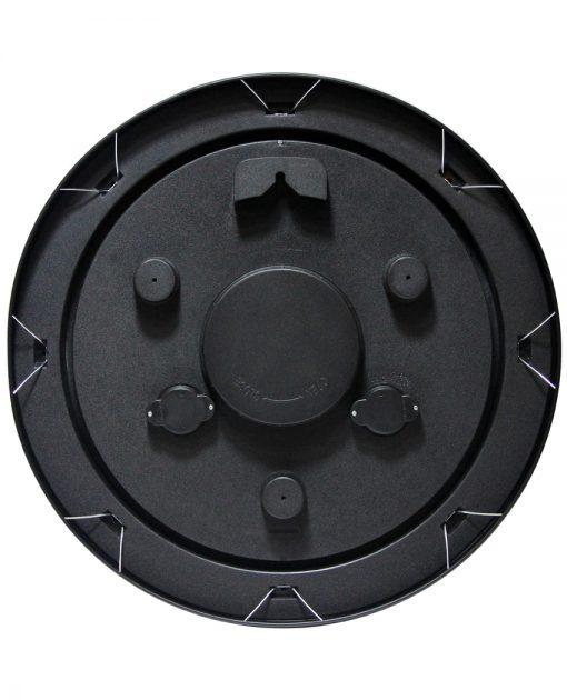 back of garden black steel wall clock 18 inch