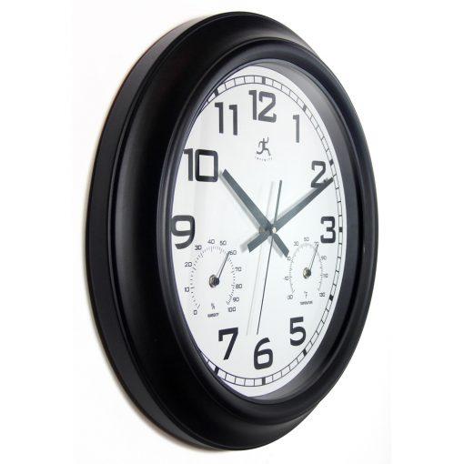 from right side garden black steel wall clock 18 inch