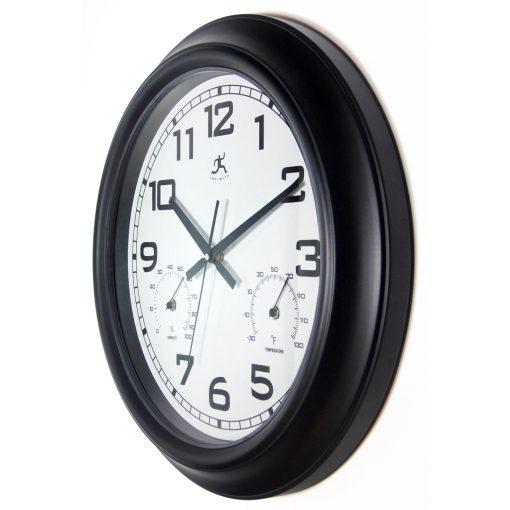 from left side garden wall clock black 18 inch