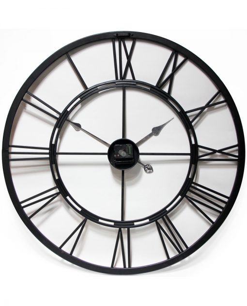 back of metal fusion large oversized extra large black steel wall clock 28 inch