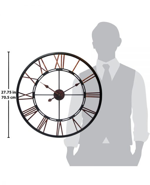 for scale metal fusion large oversized xxl extra large wall clock 28 inch