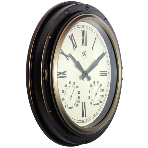 from right side forecaster bronze wall clock 16 inch