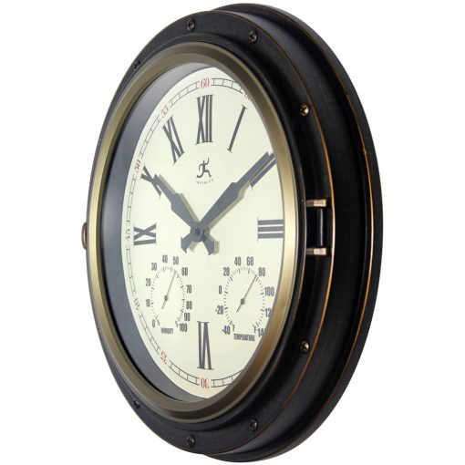 from left side forecaster bronze wall clock 16 inch