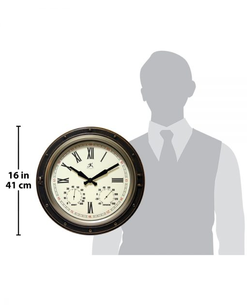 bronze wall clock forecaster for scale