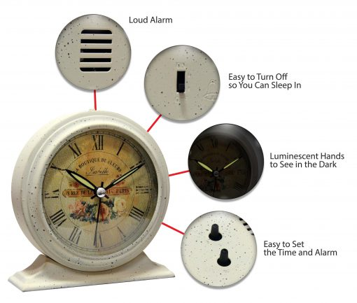 features of tabletop clock