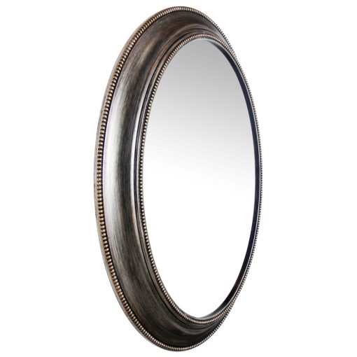 from right side silver oval wall mirror