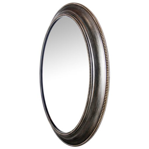 antique silver oval wall mirror 30 inch
