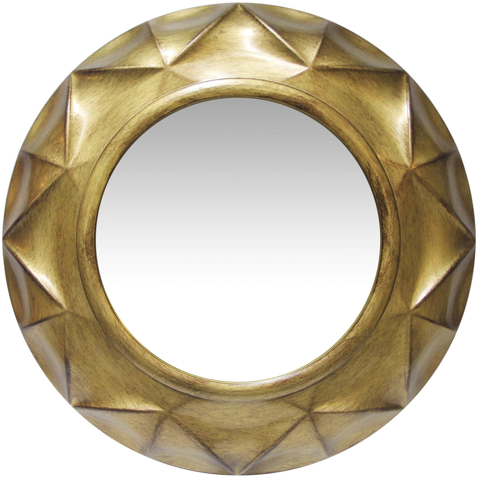 20 inch Vigil; an Antique Silver Wall Mirror