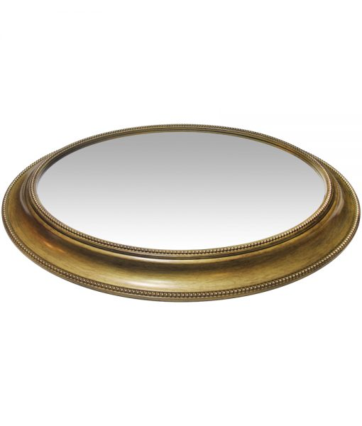 wall mirror sonore gold round 30 inch