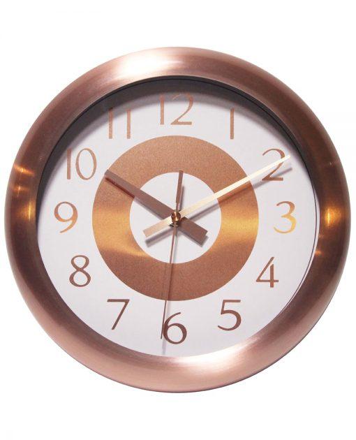 Round Copper Wall Clock kitchen