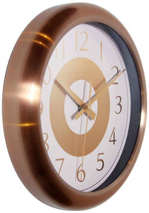 from right side classic copper wall clock 10 inch
