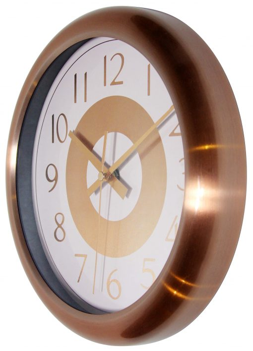 from left side classic copper wall clock 10 inch
