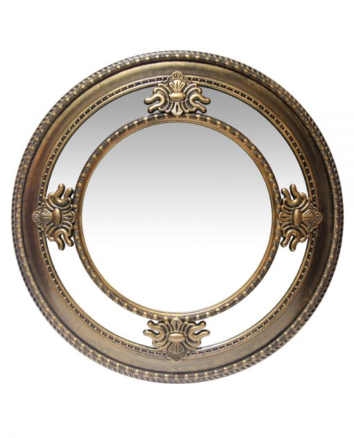 15454AG gold wall mirror 23 inch versailles