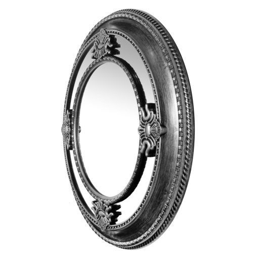 from left side silver wall mirror round 23 inch