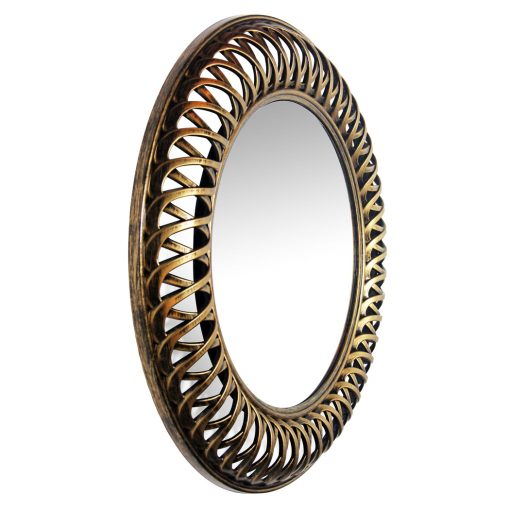 from right side lattice gold wall mirror 22 inch