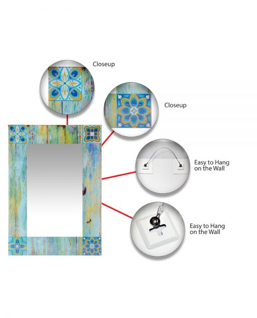 features of shabby chic mirror