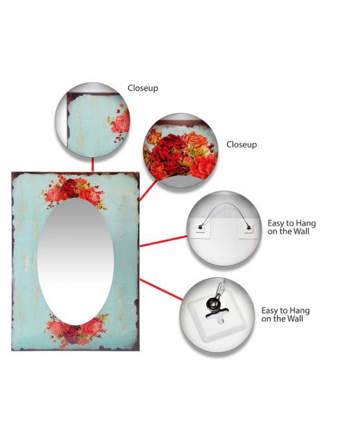 mirror features shabby chic wall mirror