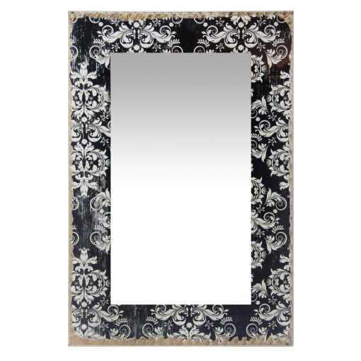 damask french country decorative wall mirror