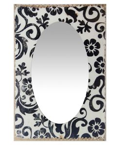 french country floral wall mirror