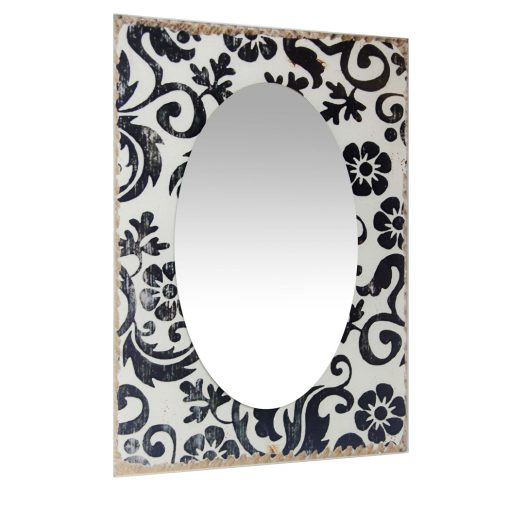 from right side floral french country mirror