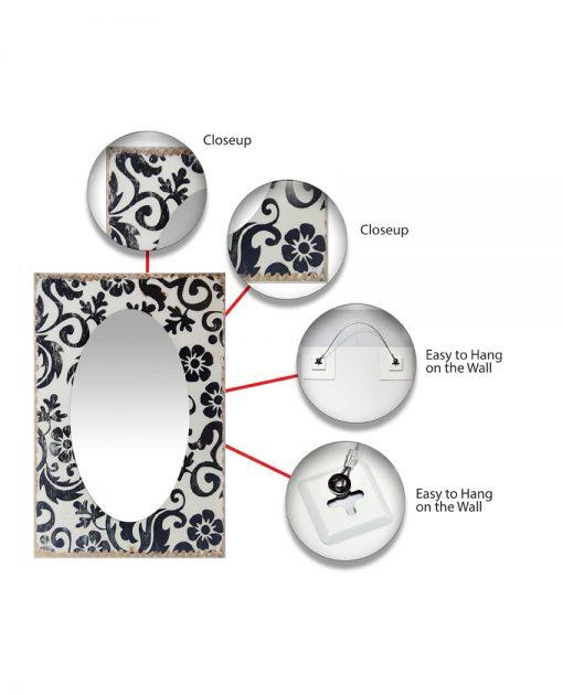 floral decorative wall mirror