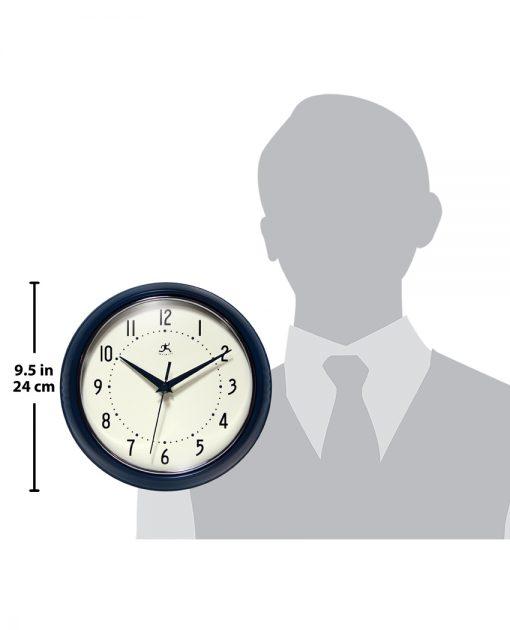 Blue Aluminum Wall Clock