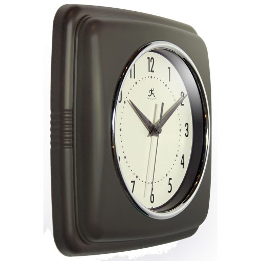 Square Retro Slate Resin Wall Clock