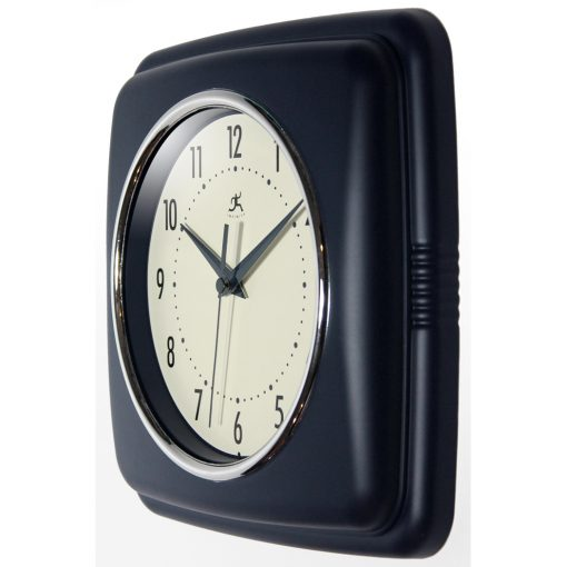 Square Retro Blue Resin Wall Clock