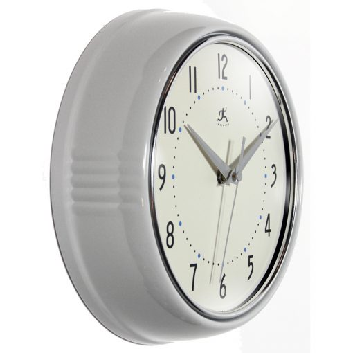 from right side retro circle round wall clock