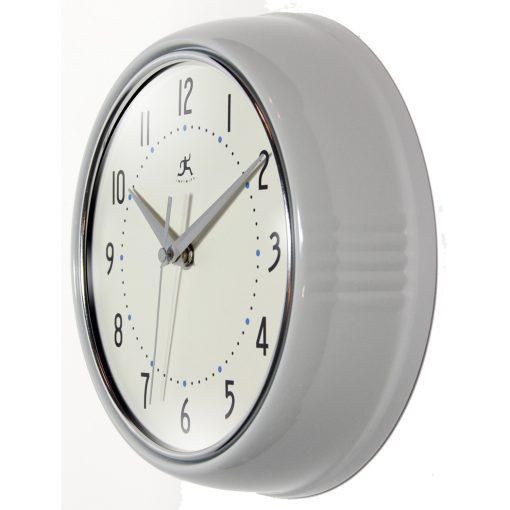 from left side retro circular round retro wall clock