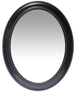 front of sonore black aged wall mirror 30 inch large decorative