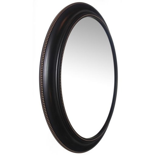 right side of sonore black aged wall mirror 30 inch large decorative