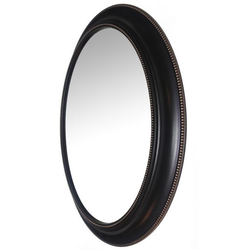 left side of sonore black aged wall mirror 30 inch entry way decorative large mirror