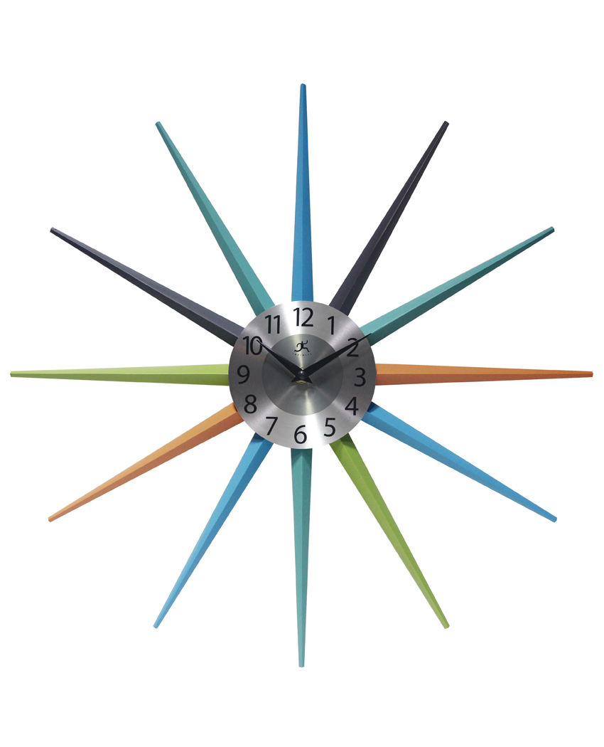 Image of: Stellar Multi Color Wall Clock 20 5 In