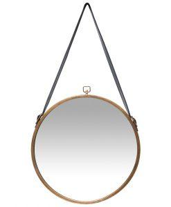farmhouse round circle brass wall mirror 29 inch