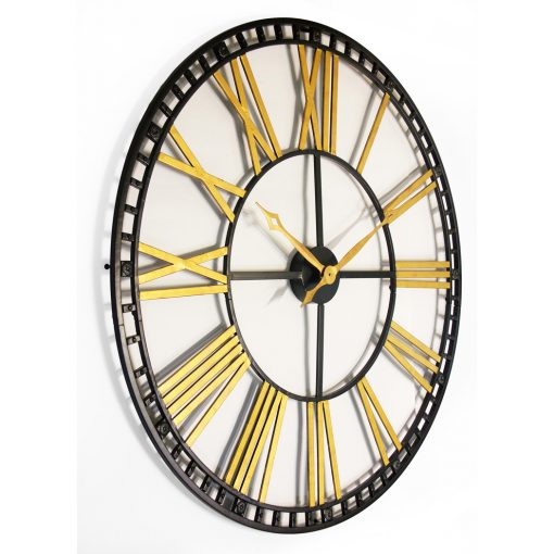tower xxl extra large oversized black and gold wall clock 39 inch from right side