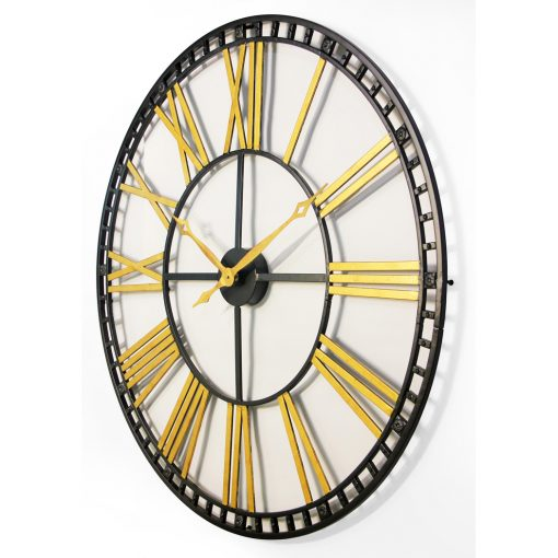 tower xxl black and gold wall clock from left oversized