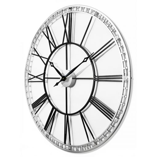 view from left of tower xxl black wall clock large 39 inch