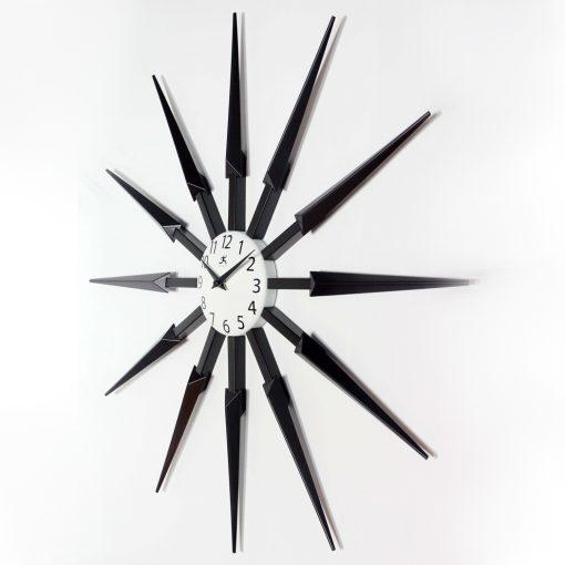 left side view celeste wall clock 24 inch