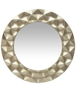 circular decorative bathroom mirror wall-mounted