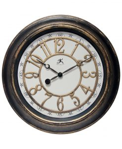 harbor medium wall clock brown rustic