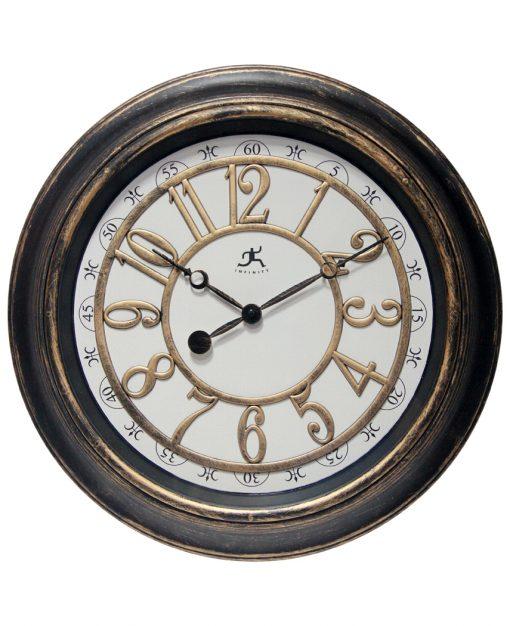 harbor medium wall clock brown rustic